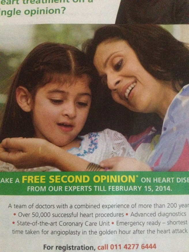 The latest campaign for FORTIS hospitals and healthcare featuring me !  My passion for the media and glamour world holds a great place in my heart !